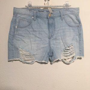 Mossimo Distressed Denim Shorts